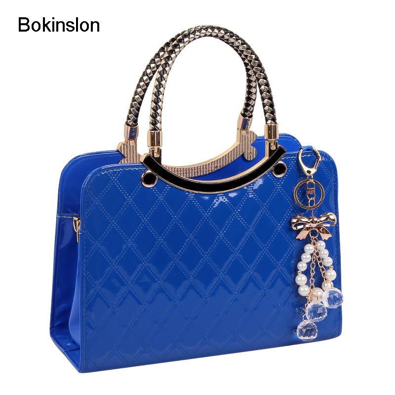 Bokinslon Women Handbags PU Leather Fashion Crossbody Bags Woman Solid Color Elegant Female Handbags Bags