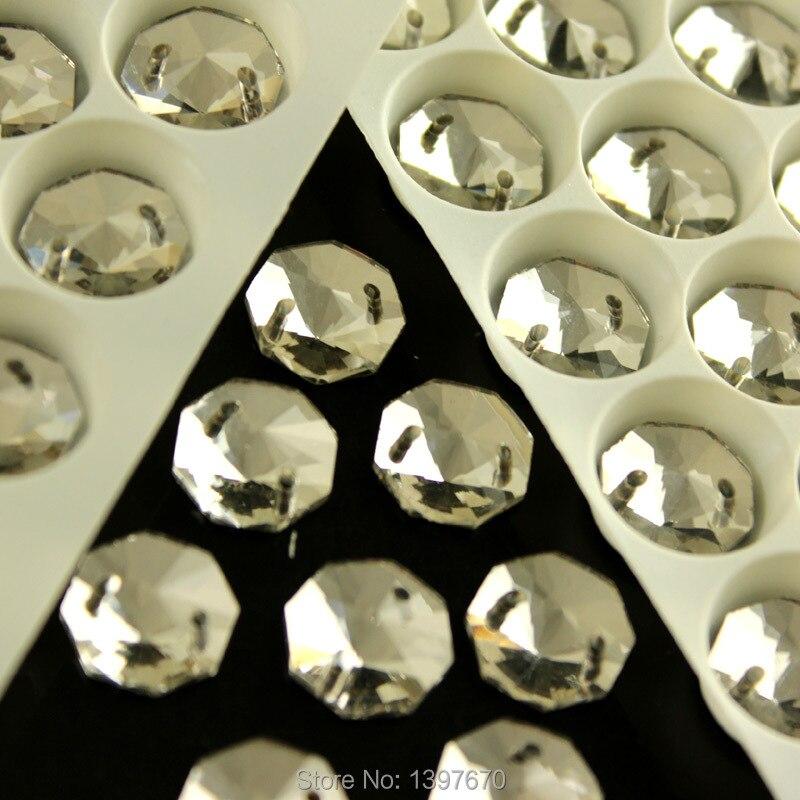 Sy på rhinestones krystal farve runde octagon flatback sy sten sten - Kunst, håndværk og syning