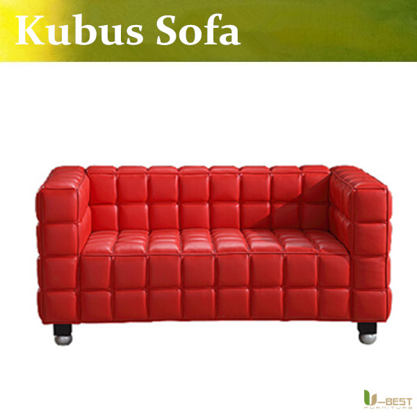 U Best Josef Hoffmann Kubus Sofa 2 Seater Loveseat Sofa Kubus Loveseat Two Seat Leather Kubus