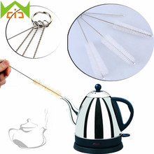 4Pcs New Stainless Steel Nylon Straw Cleaning Brush Drinking Pipe Tube Bottle Cleaner Baby Bottle Clean Tools