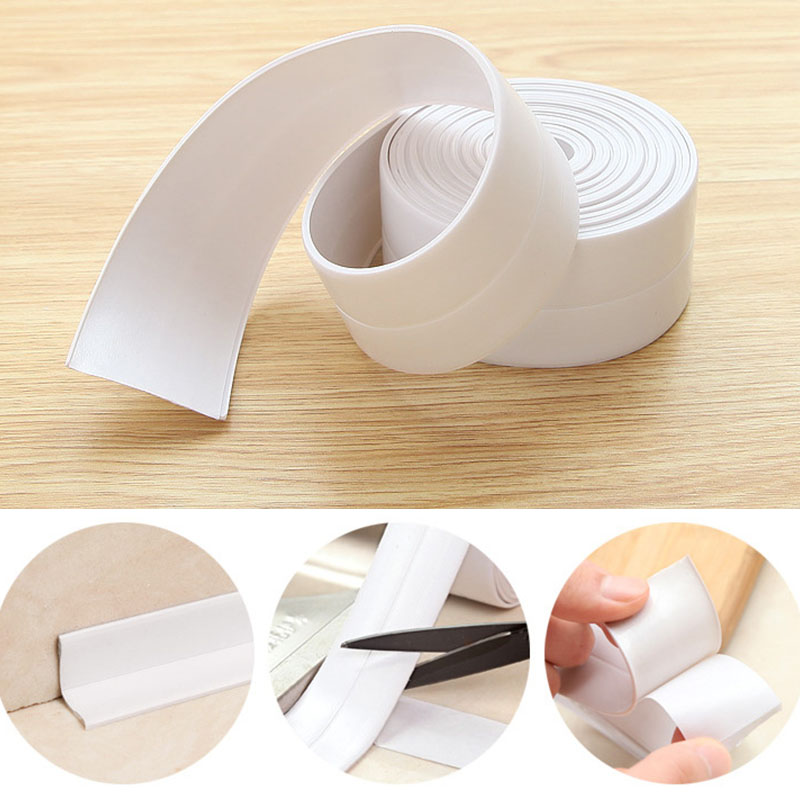 Tapes Bathroom Kitchen Durable Sealing-Tape Wall-Gap Waterproof Corner Mold Practical