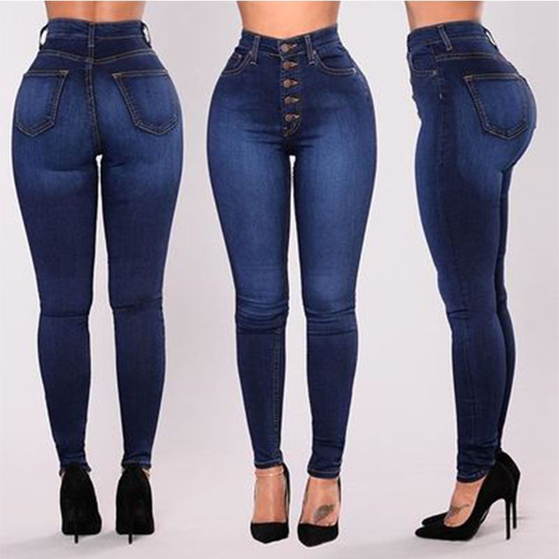 2019 High Waist Skinny Jeans Woman Boyfriend Jeans For Women Plus Size Pencil Pants Vintage Stretch Mom Jeans Denim Women Jeans