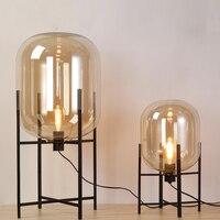 Modern Minimalist nordic Floor Lamp table light desk Lamp Living room Reading black white lampshade Floor light E27 lamp