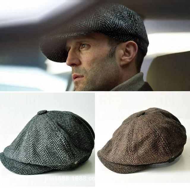 123997b5 2016 British Style Men's Fashion Octagonal Cap Newsboy Beret Hat Autumn And Winter  Hats For Men Casual Visors Caps S505