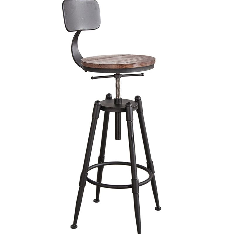 High Bar Stool Backrest High Chair Beauty Chair European Front Rotating Lift Bar Barber Stool