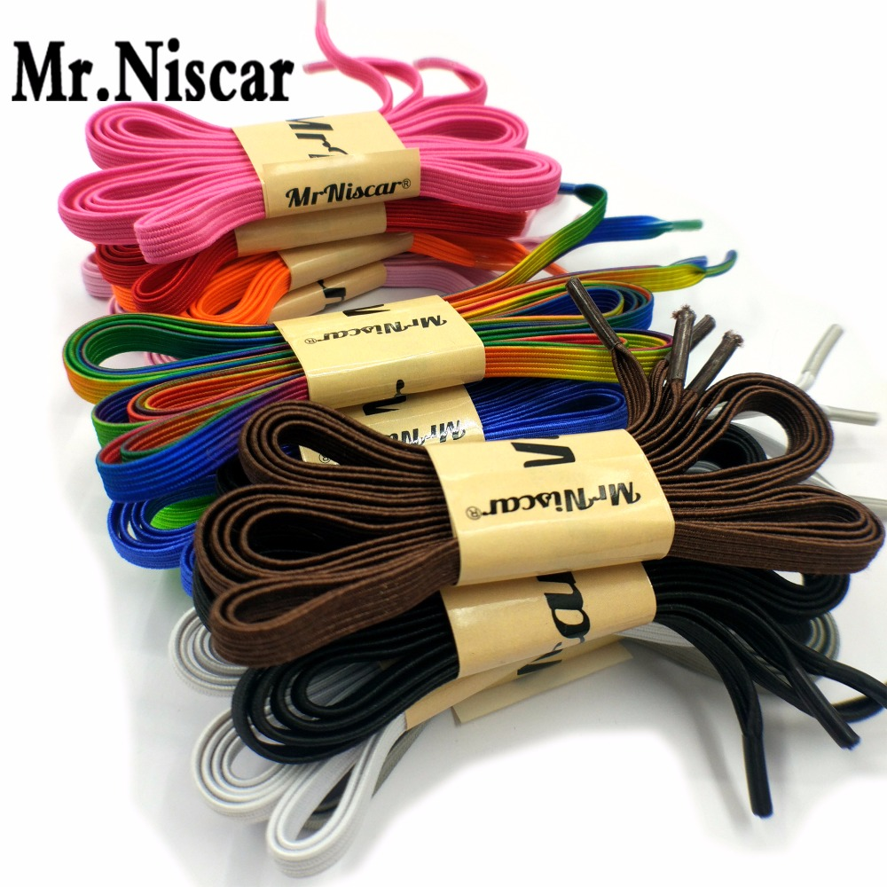 1 Pair No Tie Lazy Shoelaces Elastic Flat Shoelace Free Tie Shoes Creative Shoelaces Buckle Adult Kids Sport Shoe Laces Colorful цена