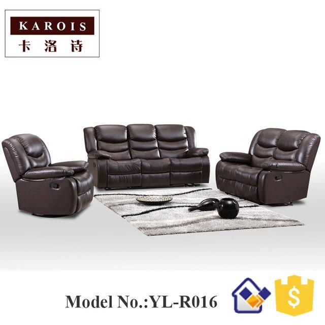 Home Theater reclinable función eléctrica sofá de cuero genuino en ...