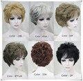 Alta qualidade Sintética peruca de cabelo naturalmente encaracolado peruca Curta das Mulheres muitas cores para sua escolha