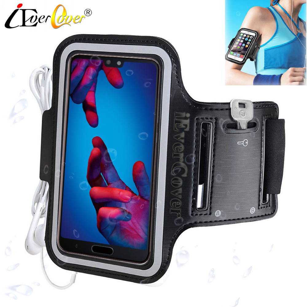 Running Arm Band Case for Huawei Mate 20 Pro P30 P20 Honor 20 10 V20 V10 7X 6X Nova 5 5i 4e 4 Phone Waterproof PU Leather Cover