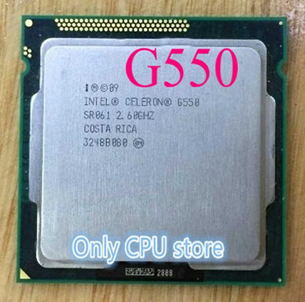 Gratis Pengiriman Intel G550 Desktop CPU 2.6 GHz L3 2 MB/5.0GT/S Processor LGA 1155 1155pin Prosesor