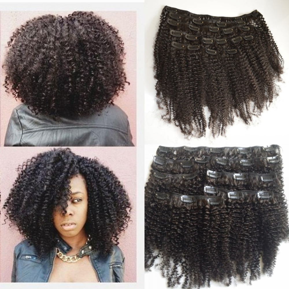 Clip In Human Hair Extensions Indian Virgin Afro Kinky Curly Natural 4A 4B 4C Ins On Aliexpress