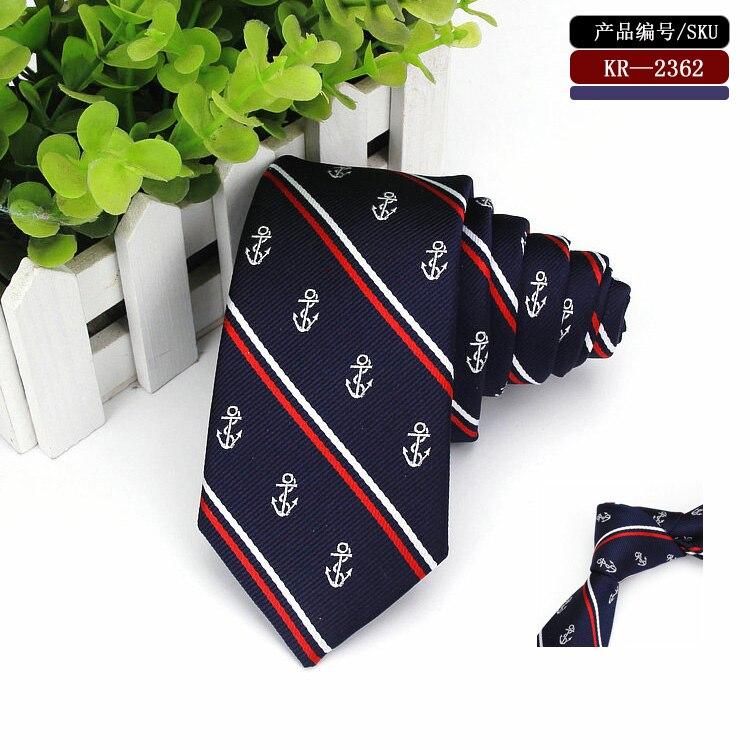 Blue-striped-anchor-skinny-tie