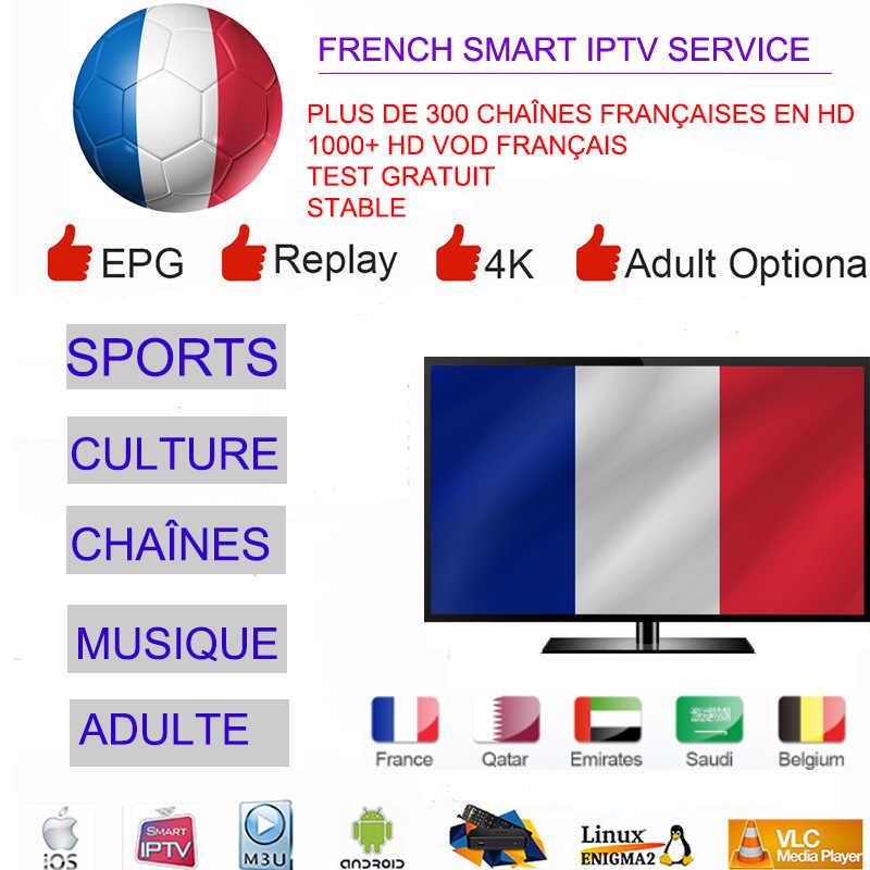 IPTV espagne abonnement M3U IPTV France Europe pays-bas allemagne français pologne UK USA 7000 vit IPTV Vods pour Smart TV MAC E2