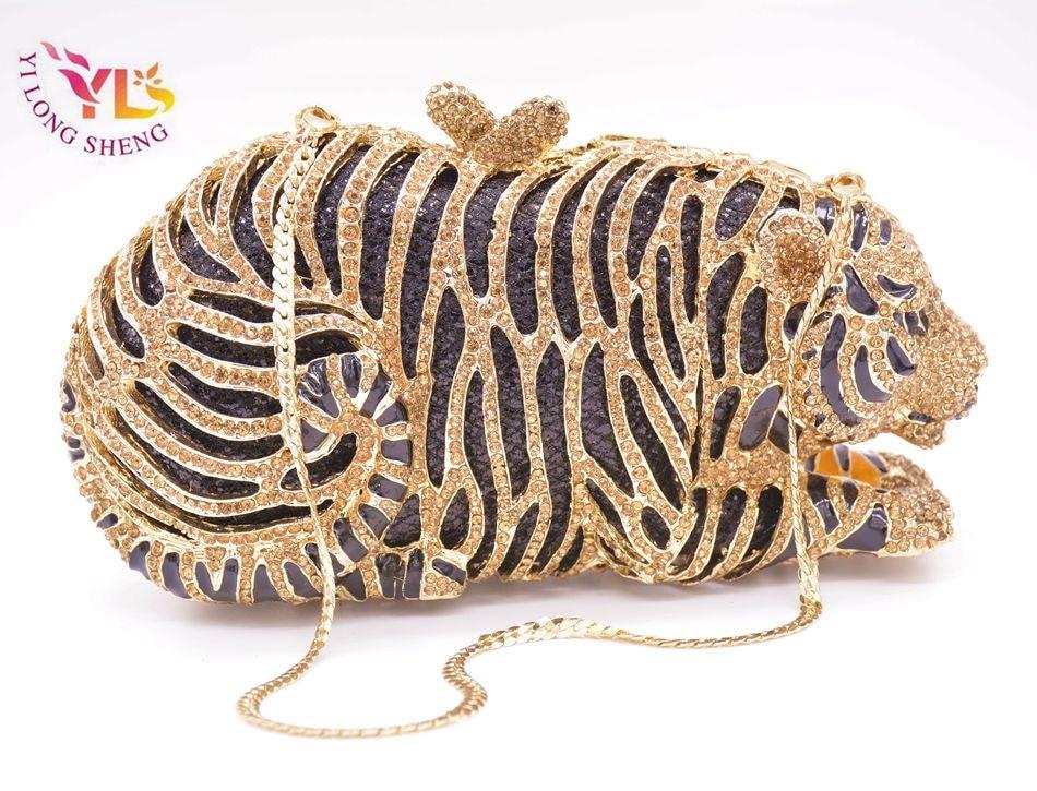 Tygrysia torebka kryształowa Damska torebka w kształcie szalonego - Torebki - Zdjęcie 4
