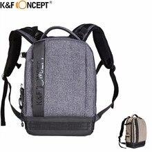 K&F CONCEPT Водонепроницаемый Рюкзак для фотоаппарата с большой Мощностью Имеет Ремни для Штативы Многофункциональный Рюкзак для Canon Nikon Sony Зеркального фотоаппарата и небольшой портативного компьютера