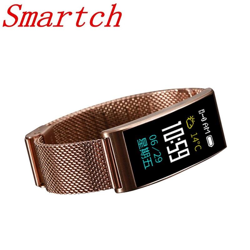 Smartch Smart Band X3 avec fréquence cardiaque pression artérielle Bluetooth 4.0 IP68 plusieurs Bracelet de Mode sport Smartband pour Android iOS