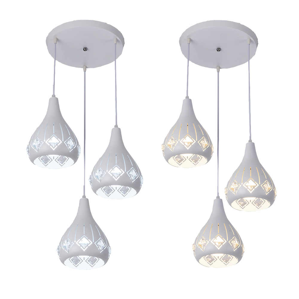 E27 Modern simple Style chandelier Lights Living Room Dining Room Glass Ceiling lustre led with Crystal chandeliers