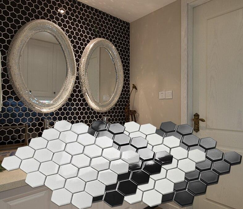 12x12 esagono bianco piastrelle di ceramica a mosaico, cucina ...