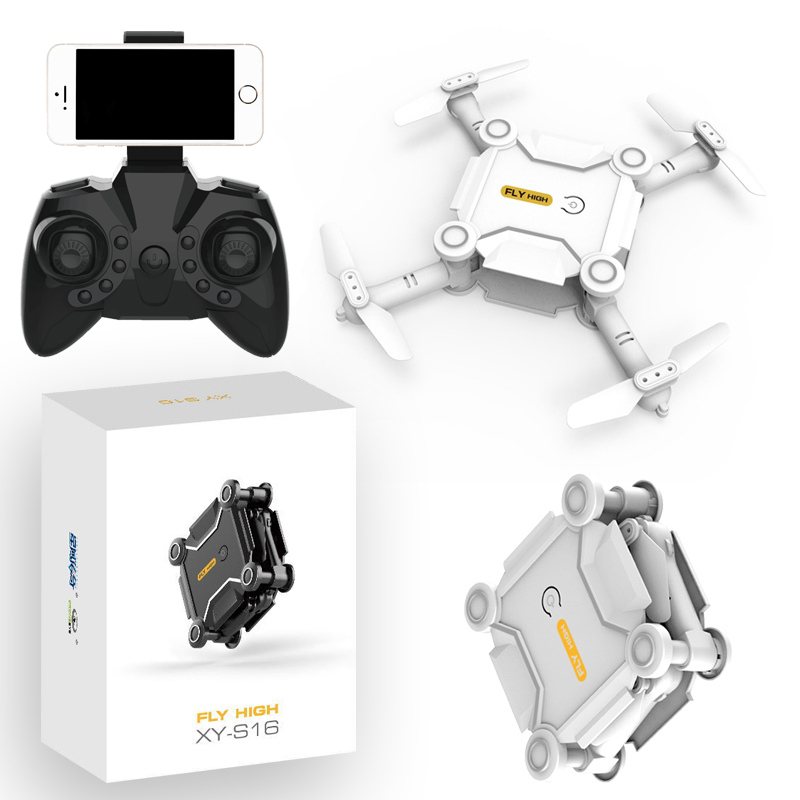 Mini Drone With Camera HD S16 No Camera Foldable RC Quadcopter Altitude Hold Helicopter WiFi FPV Micro Pocket Dron