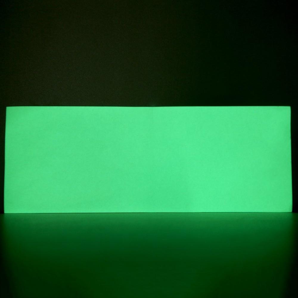 8 * 3 Inch  Luminous Green PET None-Radioactive Stylish Luminous Green Glow In The Dark Tape Self Adhesive Sticker Sheet