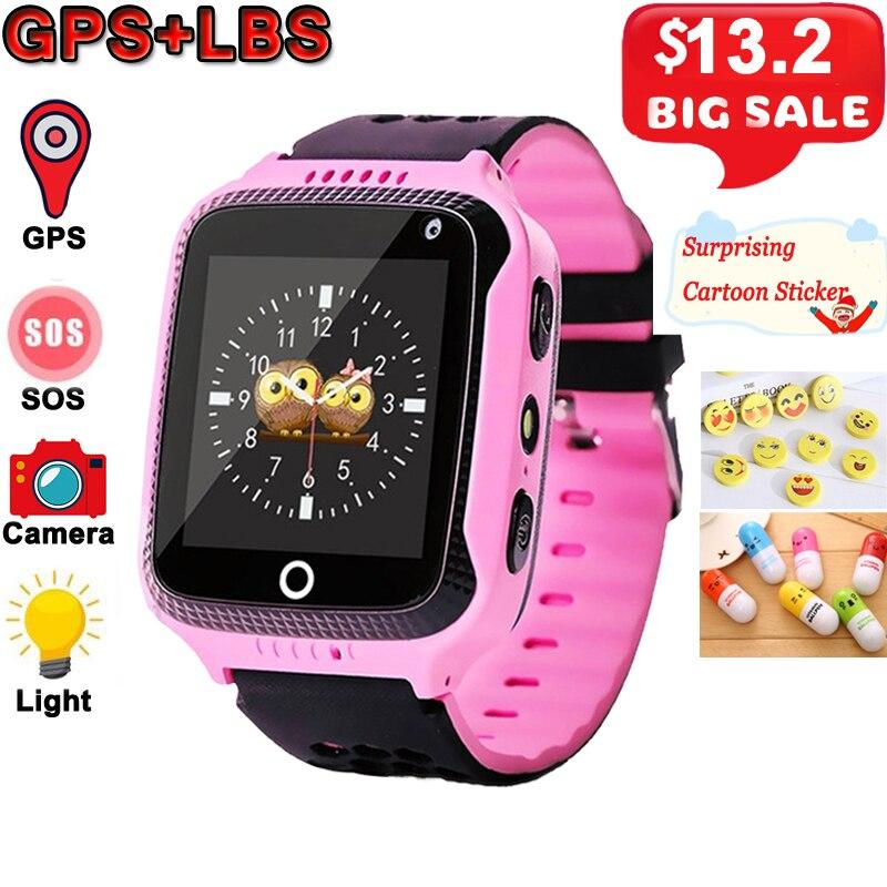 Q528 niños reloj inteligente con cámara de GPS reloj inteligente Monitor de sueño SOS bebé Reloj 2G SIM Anti- ¡Los niños perdidos de Smartwatch!