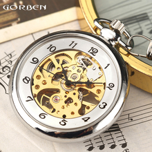 2017 New Arrival Mechanical Pocket Watch Antique Hand-Wind Fob Watches Roman Number For Men Women Chain Necklace Exquisite Gifts