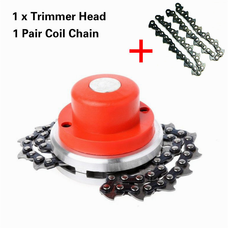Garden Tools Bright 2set Universal Lawn Mower Chain Trimmer Head Chain Brushcutter For Trimmer Garden Grass Brush Cutter Tools Spare Parts