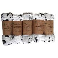 Yenidoğan Muslin Ağacı kundak Yüksek kalite Aden Anais Bebek Çok kullanımlı Siyah Beyaz Pamuk/Bambu Battaniye Bebek