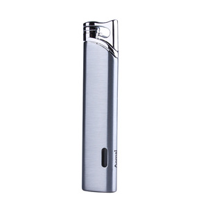 Image 3 - Compact Jet Butane Lighter Torch Turbo Gas Cigarette 1300 C Fire Windproof Stripe Pipe Lighter No GAS