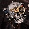 Venta al por mayor hecha a mano Del estilo de Steampunk cadena de Metal hebilla de correa del cráneo + con extar uno más ligero DEL ZPO