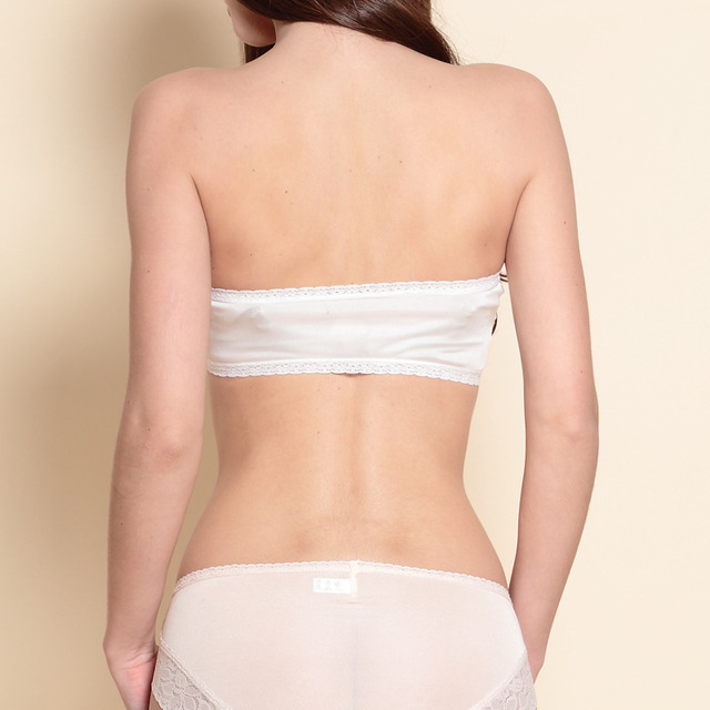 Ladies Silk Knit Backing Bra Comfort Chest Wrapped In Summer