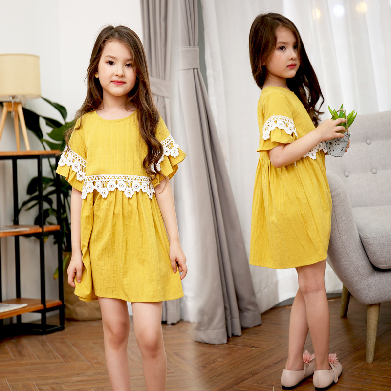 Baby Dresses Girl Lace Princess Dress Girlss Casual Birthday Party Flare Sleeve Wedding  ...