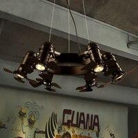 Droplight Утюг американской промышленности vintage подвесные светильники Регулируемый подвесные светильники для столовой дизайн светильник подв