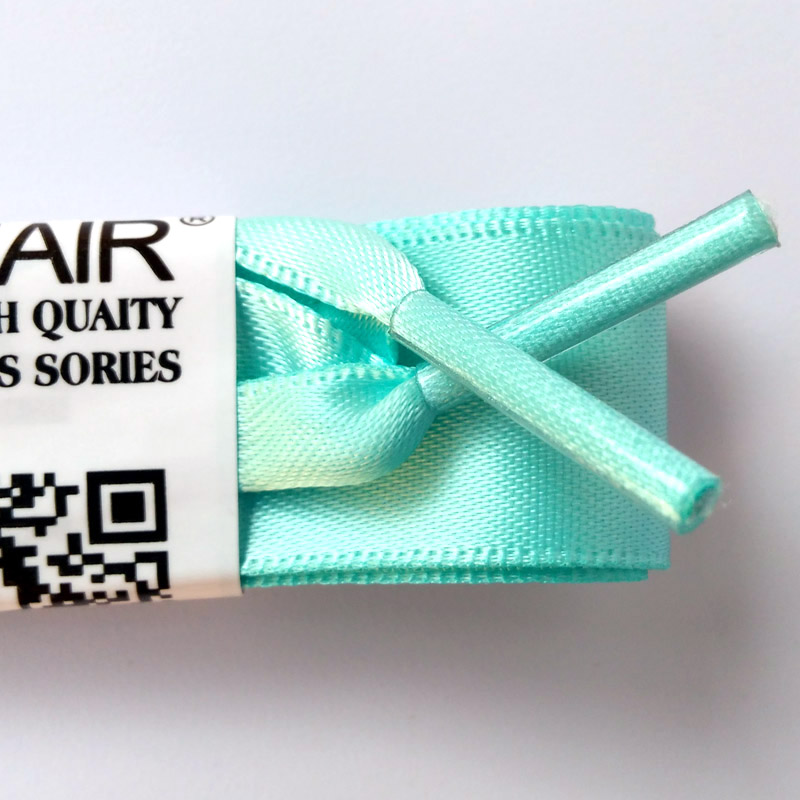 JUP1-12Pairs Light Blue Fashion Fantastic Princess Colorful Flat Silk Ribbon Shoelace Princess Colorful Lady Laces Free Shipping