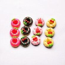 DIY Scrapbooking Phone Case Decorative Craft 30pcs Cute Miniature Artificial Fake Food Resin Cabochons