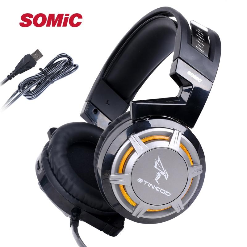 Somic G926N USB PC Professional Gaming Headset LED Light Headphone with Microphone Headphones For CF LOL PC Gamer Internet Bar