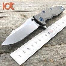 LDT 0392 Folding Knife M390 Blade Titanium Handle KVT Ball Bearing Camping Outdoor Utility Knives Pocket Hunting Knife EDC Tools