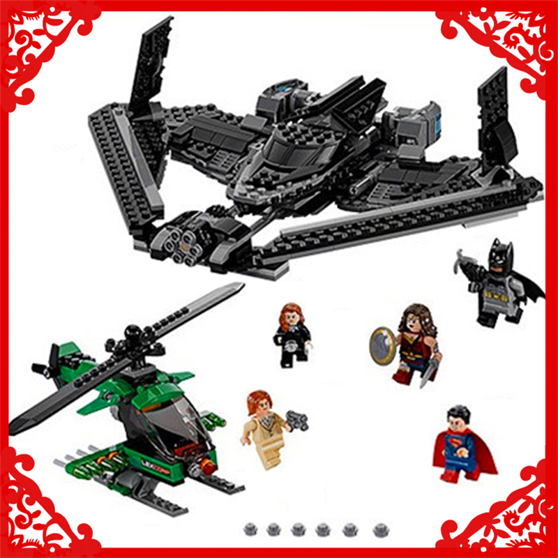 DECOOL 7118 Batman Chariot Super Heroes of Justice Building Block 518Pcs DIY Educational  Toys For Children Compatible Legoe 7112 decool batman chariot superheroes the batwing model building blocks enlighten diy figure toys for children compatible legoe