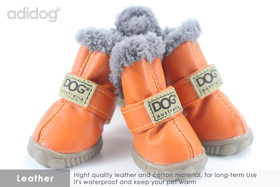 Pet Dog Shoes Winter Super Warm 4pcs set Dogs Boots Cotton Anti Slip XS 2XL Shoes for Small Pet Product ChiHuaHua Waterproof 305