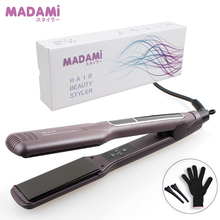 Korean Hair Curling Iron Wide Plate Ceramic Hair Straightener 1 1/2 inch Dual Voltage Bivolt Chapinha 3D Floating Styling Tools