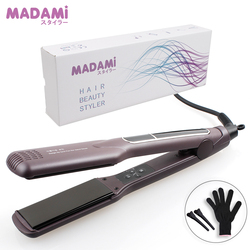 Korean Hair Flat Iron Wide Plate Ceramic Hair Straightener 1 1/2 inch Dual Voltage Bivolt Chapinha 3D Floating Styling Tools