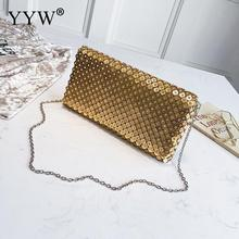 Gold Metal Envelope Clutch Bag For Women Wedding Party Fashion Designer Phone Purse Evening Party Bag Clutches Wallet With Chain women evening bag gold chain stone high quality day clutches wedding purse party banquet girls messenger bag fashion multicolor