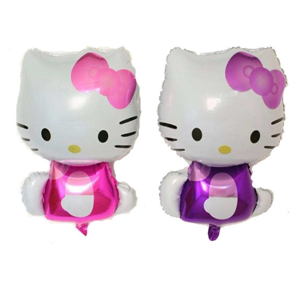 6Pcs/Lot 73X46cm Cut Hello KT Cat Birthday Balloons Foil Balloons Children Toy B