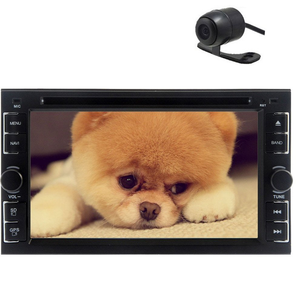 2 Din Car Head Unit Stereo 6.2 Inch Bluetooth Analog TV USB/SD IPod RDS AM FM Radio iPod Media Free Reversing Camera