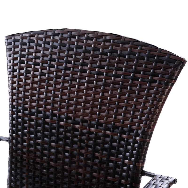 Adirondack Chair Kussens.Outdoor Wicker Rattan Porch Deck Adirondack Chair With Cushion Patio Furniture Hw57255