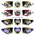 Custom Number Plate Backgrounds Graphics Sticker & Decals For SUZUKI RMZ250 RMZ 250 2010 2011 2012 2013 2014-2016