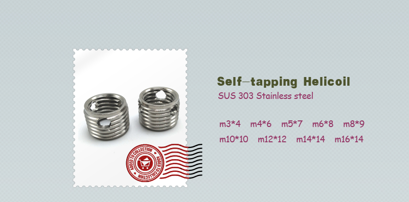SUS303 Low pirce Fasteners Self-Tapping Screw Thread Inserts Installation Tool Ochoos m1212 5pcs//lot