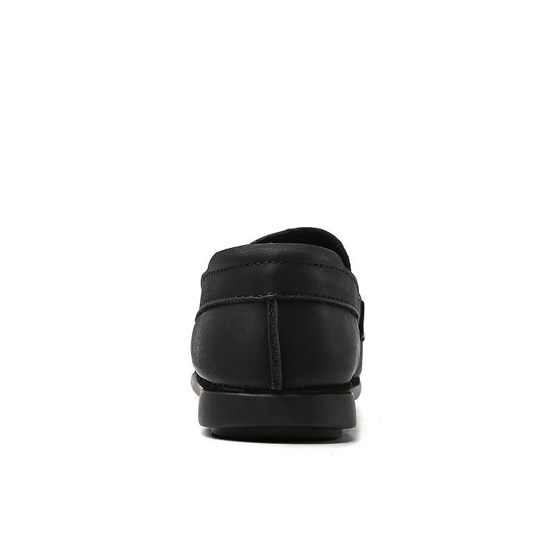 Style Sport Naturel Rétro Taille Mocassins Conduite Noir La Hommes En Chaussures Souple Cuir Plus De nxY8w7q45P