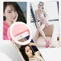 Selfie Portable Led Camera Phone Photography Ring Light Enhancing Photography For Meizu Huawei Xiaomi Redmi Hornor