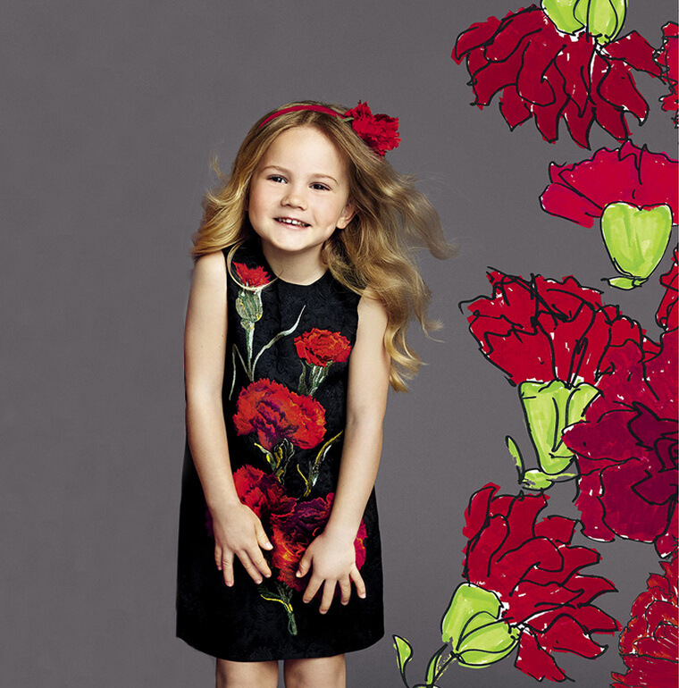 Mädchen Baumwolle Kleid Nelken Floral Marke All Season Prinzessin - Kinderkleidung - Foto 4